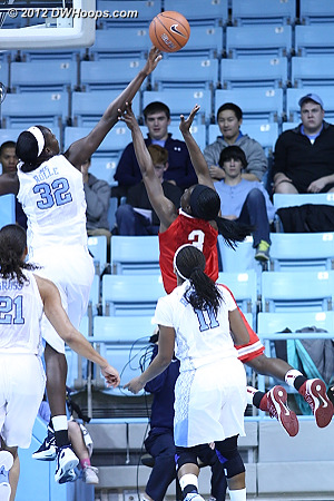 Rolle rejects Amber Stokes  - UNC Players: #32 Waltiea Rolle
