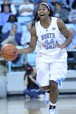 North Carolina's Tierra Ruffin-Pratt led the Heels to a 57-54 victory over Ohio State but was injured in their loss to Tennessee.