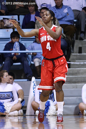 Tayler Hill notched 24 of Ohio State's 54 points
