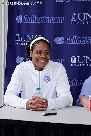 Post game interviews  - UNC Players: #34 Xylina McDaniel