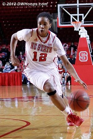 Barrett on the bounce  - NCSU Players: #12 Krystal Barrett