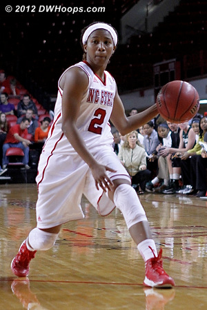 Making an entry pass  - NCSU Players: #2 Le'Nique Brown