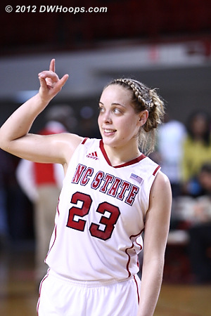 Goodnight, fans  - NCSU Players: #23 Marissa Kastanek