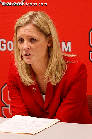 ACCWBBDigest Photo  - NCSU Players: Head Coach Kellie Harper