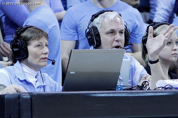 Fran and Gary Whaley helping to run the show at the scorers table