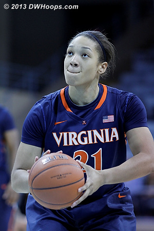 ACCWBBDigest Photo  - UVA Players: #21 Jazmin Pitts