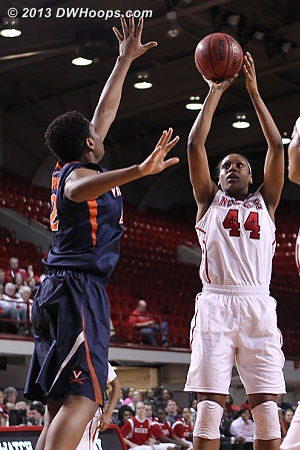 Kody Burke put up 12 points in the first half on 6-12 shooting  - NCSU Players: #44 Kody Burke