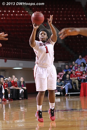 Myisha Goodwin-Coleman was a big lift off the bench for State, hitting three pointers on three occasions when Virginia had cut State's lead to single digits  - NCSU Players: #1 Myisha Goodwin-Coleman