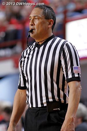 Referee Bob Enterline