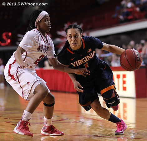 ACCWBBDigest Photo  - NCSU Players: #2 Le'Nique Brown - UVA Tags: #1 China Crosby