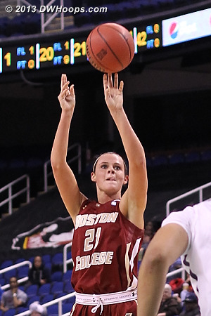 Doherty nails a three  - BC Players: #21 Kristen Doherty