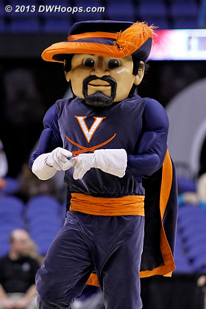 ACCWBBDigest Photo  - UVA Players: Mascot Virginia Cavalier