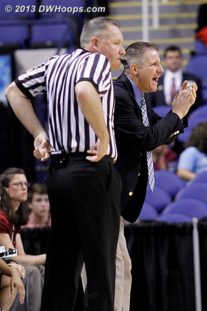Coach Johnson is not applauding referee Bryan Brunette  - BC Players: Head Coach Erik Johnson