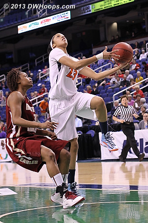 Franklin cuts the UVa deficit to five  - UVA Players: #23 Ataira Franklin - BC Tags: #3 Tessah Holt