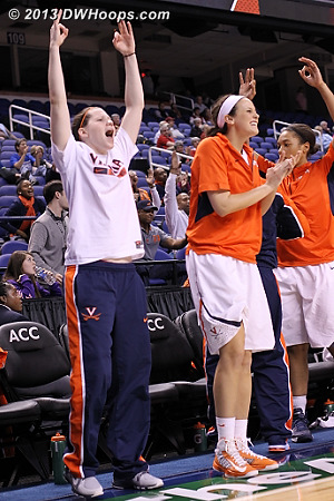 ACCWBBDigest Photo  - UVA Players: #3 Sarah Beth Barnette, #14 Lexie Gerson