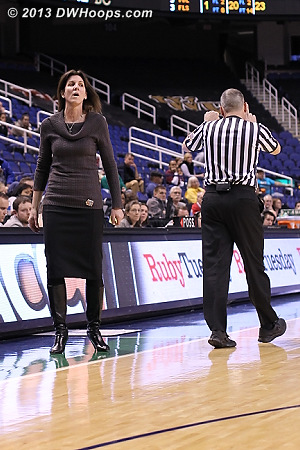 Coach Boyle working for every call  - UVA Players: Head Coach Joanne Boyle