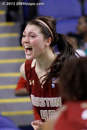 Zenevitch hoop & harm, BC goes up 51-46  - BC Players: #45 Katie Zenevitch