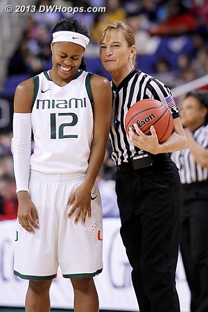 Dee Kantner tells the best jokes  - MIA Players: #12 Krystal Saunders