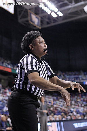 Referee Bonita Spence in her final ACC Tournament.