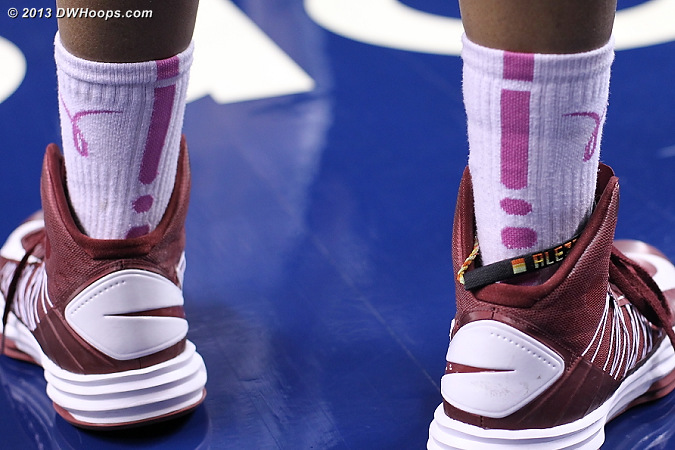 Several of Virginia Tech's players wore Play4Kay socks  - VT Players: #4 Hannah Young