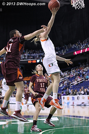 Foul called on Tellier who protested vigorously  - VT Players: #31 Monet Tellier - MIA Tags: #3 Stefanie Yderstrom