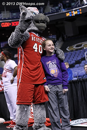 ACCWBBDigest Photo  - NCSU Players: Mascot Mr. Wuf
