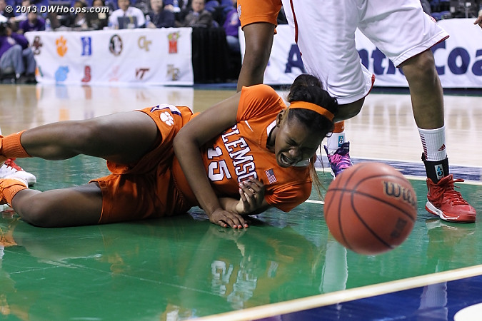 ACCWBBDigest Photo  - CLEM Players: #15 Nyilah Jamison-Myers