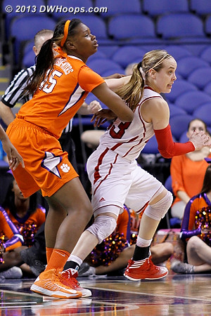 ACCWBBDigest Photo  - NCSU Players: #23 Marissa Kastanek - CLEM Tags: #15 Nyilah Jamison-Myers