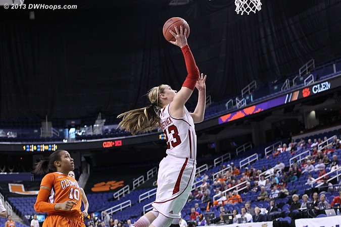 Kastanek soars to the basket  - NCSU Players: #23 Marissa Kastanek