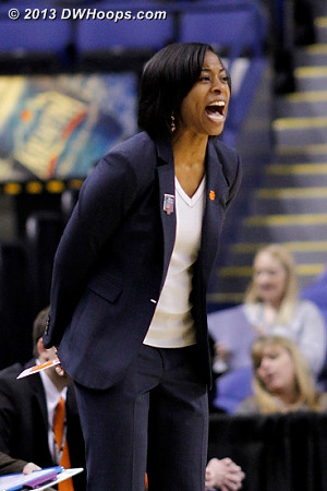 ACCWBBDigest Photo  - CLEM Players: Head Coach Itoro Coleman