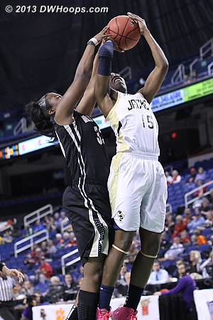 ACCWBBDigest Photo  - GT Players: #15 Tyaunna Marshall - WAKE Tags: #33 Asia Williams