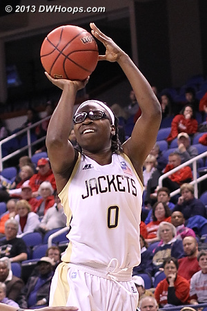 ACCWBBDigest Photo  - GT Players: #0 Brittany Jackson
