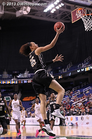 Hamby's layup put Wake up 73-56 and forced another GT timeout  - WAKE Players: #25 Dearica Hamby