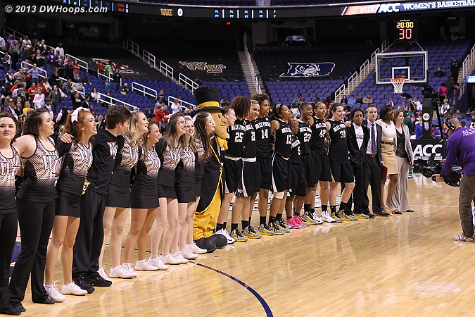 Wake Forest alma mater  - WAKE Players: Mascot Demon Deacon,  Wake Forest Cheerleaders