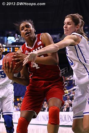 ACCWBBDigest Photo  - Duke Tags: #43 Allison Vernerey - NCSU Players: #44 Kody Burke