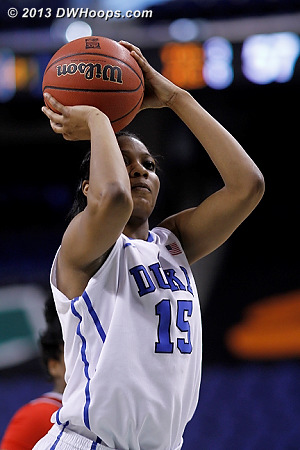 Richa Jackson makes two free throws to put Duke up 60-57