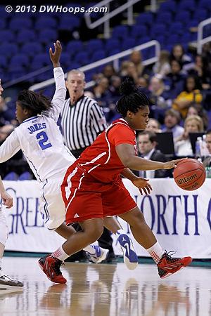 ACCWBBDigest Photo  - Duke Tags: #2 Alexis Jones - NCSU Players: #1 Myisha Goodwin-Coleman