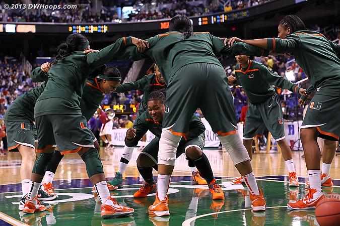 Miami pregame huddle