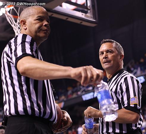 Referees Daryl Humphrey and Ed Sidlasky