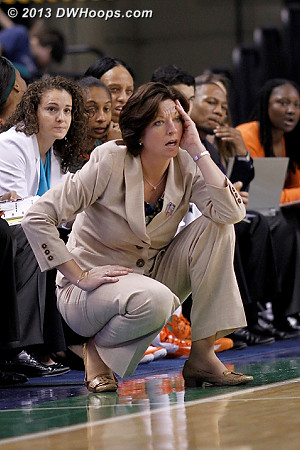 Miami's bigs were racking up the fouls  - MIA Players: Head Coach Katie Meier