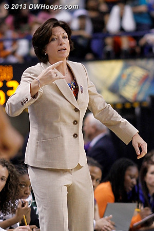 Katie calls horns as FSU has built a working margin for the last segment of the game  - MIA Players: Head Coach Katie Meier