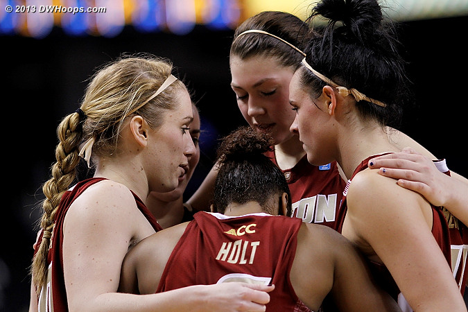 BC huddle before the second half starts