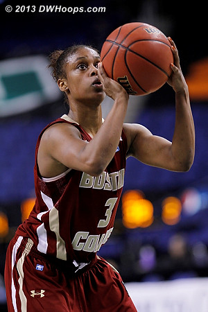 Holt on the line, making one of two.  41-39 Heels.  - BC Players: #3 Tessah Holt