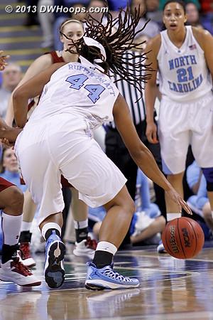 My lens will miss the hair of Tierra Ruffin-Pratt  - UNC Players: #44 Tierra Ruffin-Pratt