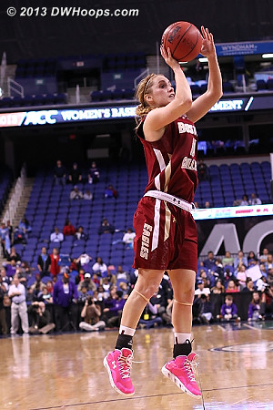 Shields hits with 5 seconds left to make it 62-57 UNC, BC's first score since the 2:33 mark.  - BC Players: #10 Kerri Shields