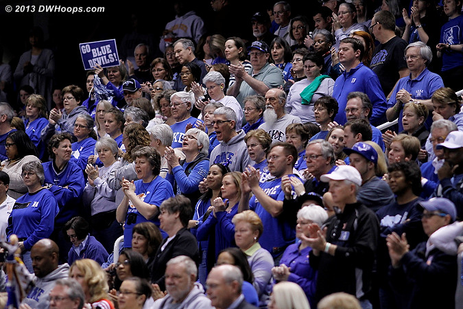 Sea of blue, count the DWHoops members!  - Duke Tags: Fans