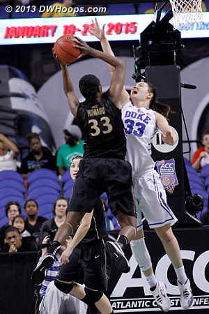 Outstanding defense when it was needed most  - Duke Tags: #33 Haley Peters - FSU Players: #33 Natasha Howard