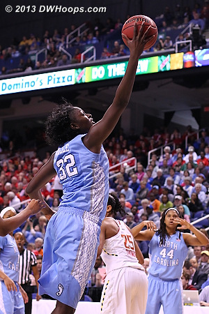 The long arm of the Rolle  - UNC Players: #32 Waltiea Rolle