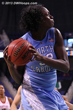 ACCWBBDigest Photo  - UNC Players: #32 Waltiea Rolle