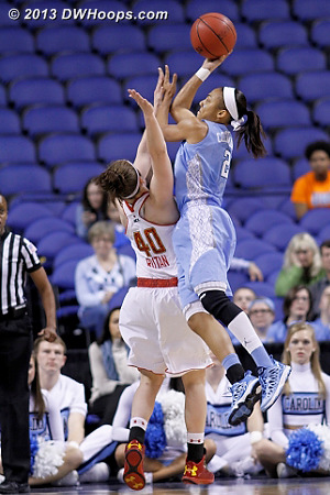 Latifah Coleman was unconscious, scoring all of her career-best 17 points in the second half to lead UNC to a 72-65 comeback win over Maryland.